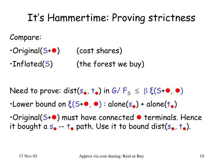 It's Hammertime: Proving strictness