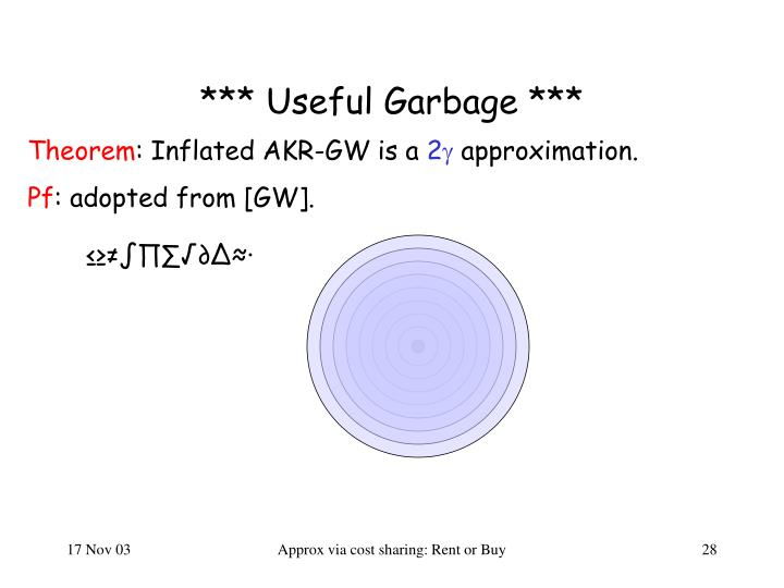 *** Useful Garbage ***