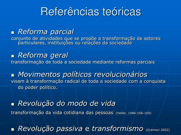 Referências teóricas