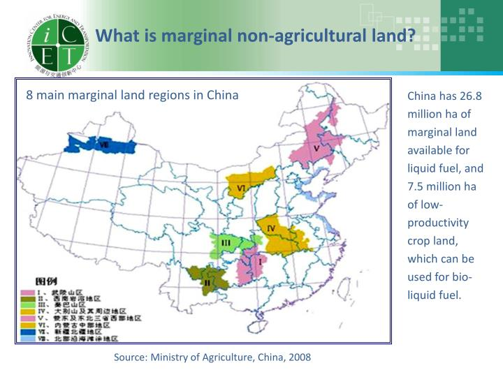 What is marginal non-agricultural land?
