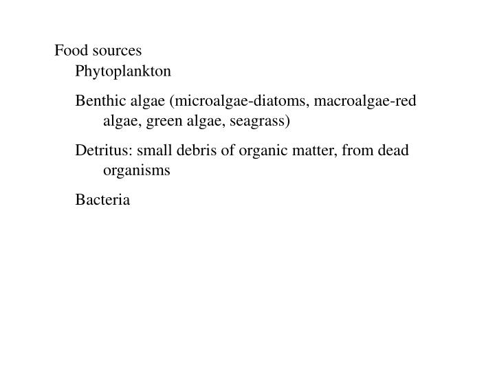 Food sources