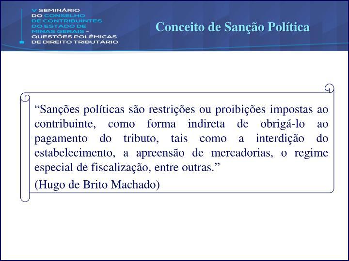 Conceito de Sanção Política