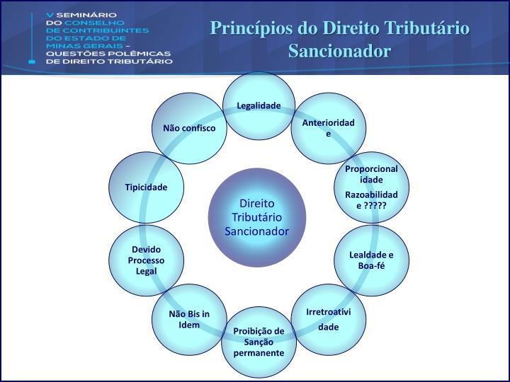 Princípios do Direito Tributário Sancionador