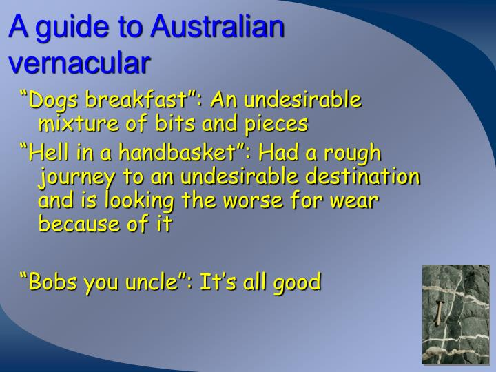 A guide to Australian vernacular