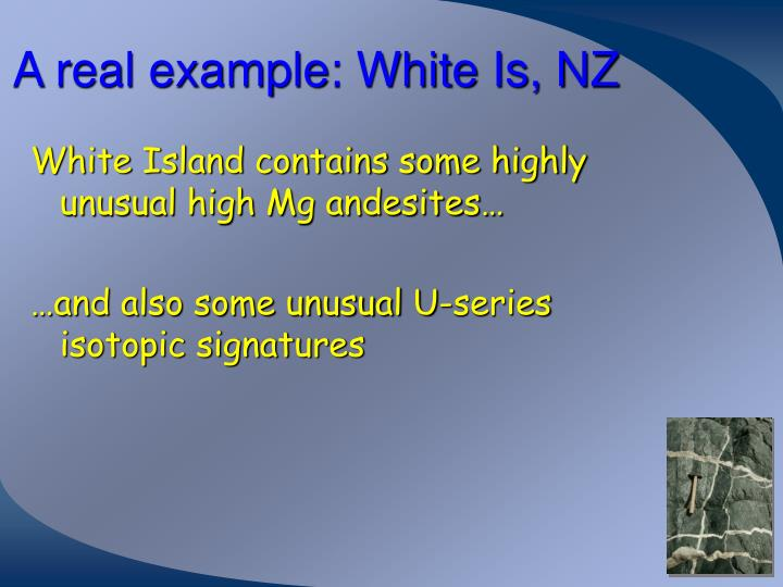 A real example: White Is, NZ