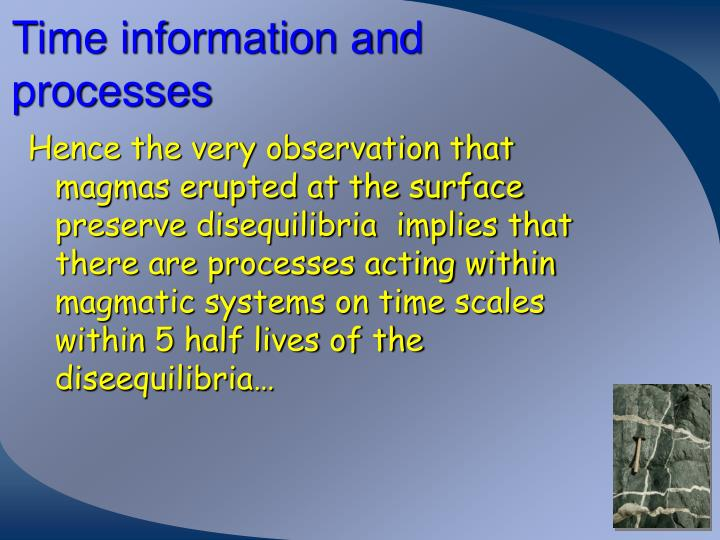 Time information and processes