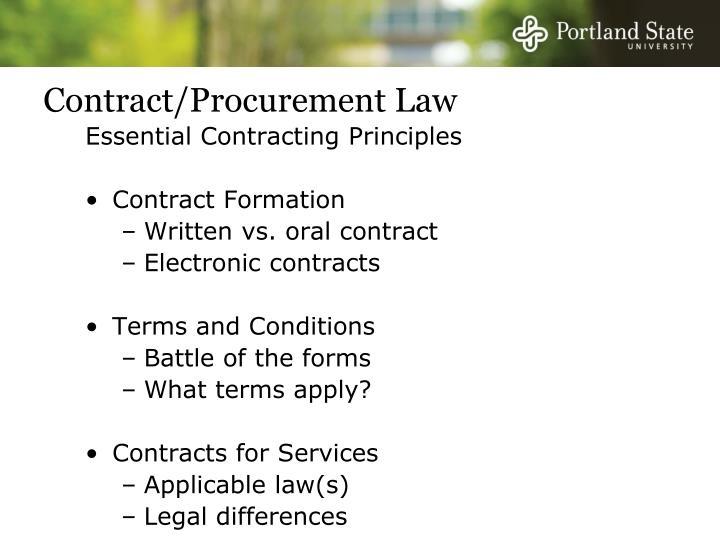 Contract/Procurement Law