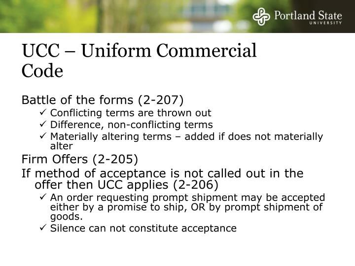 UCC – Uniform Commercial Code
