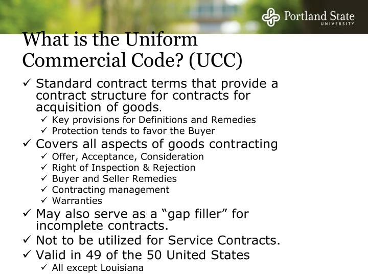 What is the Uniform Commercial Code? (UCC)