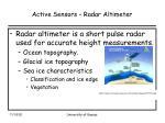 active sensors radar altimeter