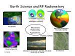 earth science and rf radiometery