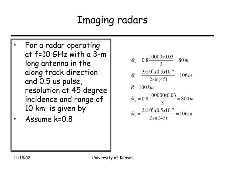 Imaging radars