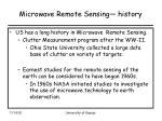 microwave remote sensing history