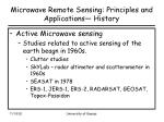 microwave remote sensing principles and applications history