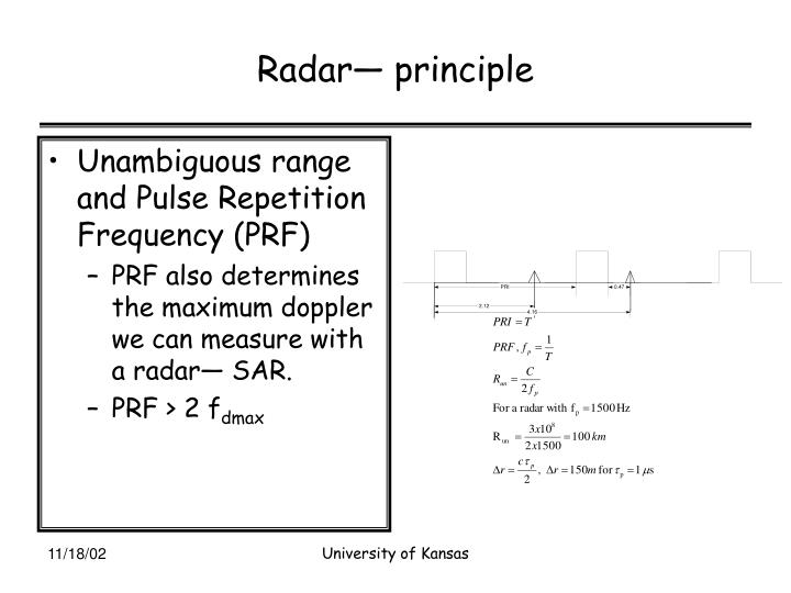 Radar— principle