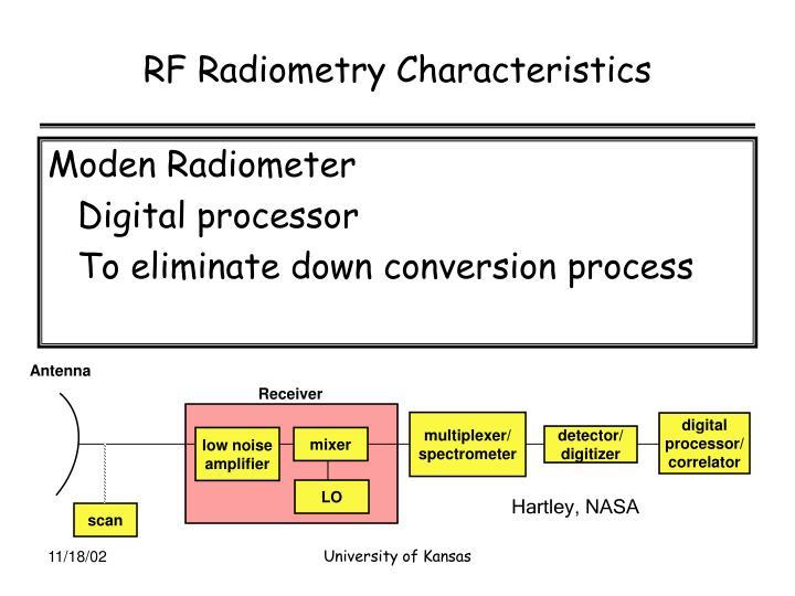 RF Radiometry Characteristics
