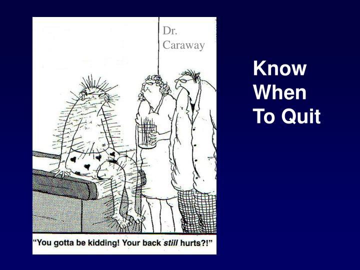 Dr. Caraway