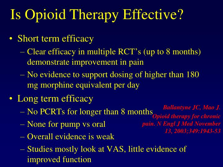 Short term efficacy