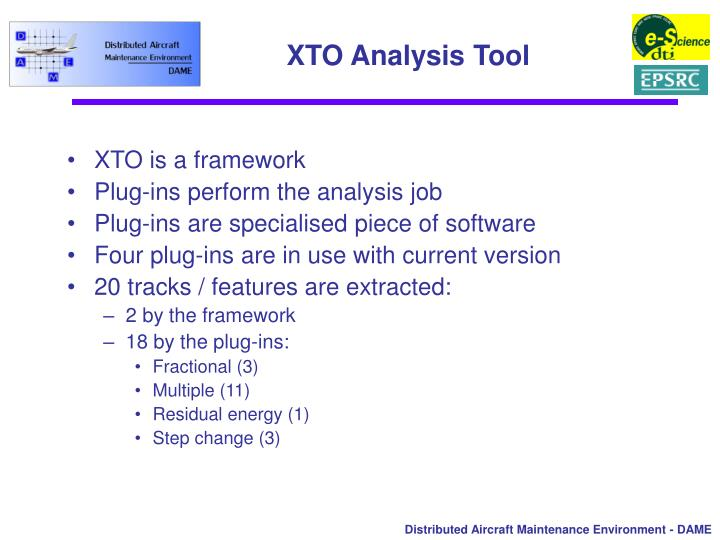 XTO Analysis Tool
