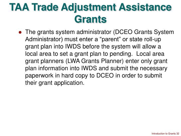 TAA Trade Adjustment Assistance Grants