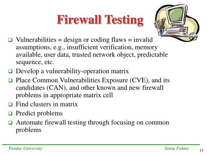 Firewall Testing