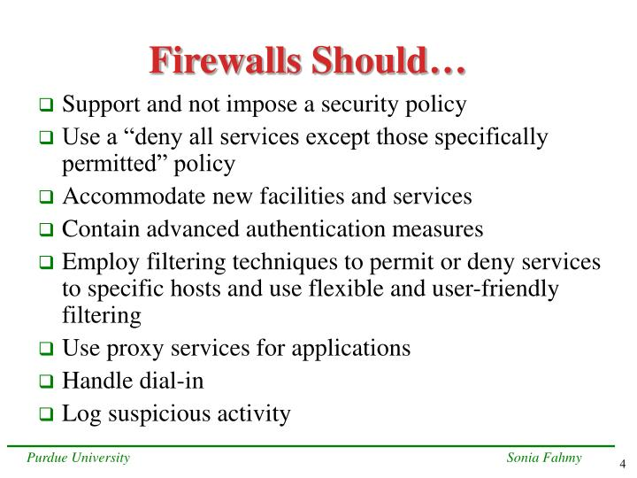 Firewalls Should…