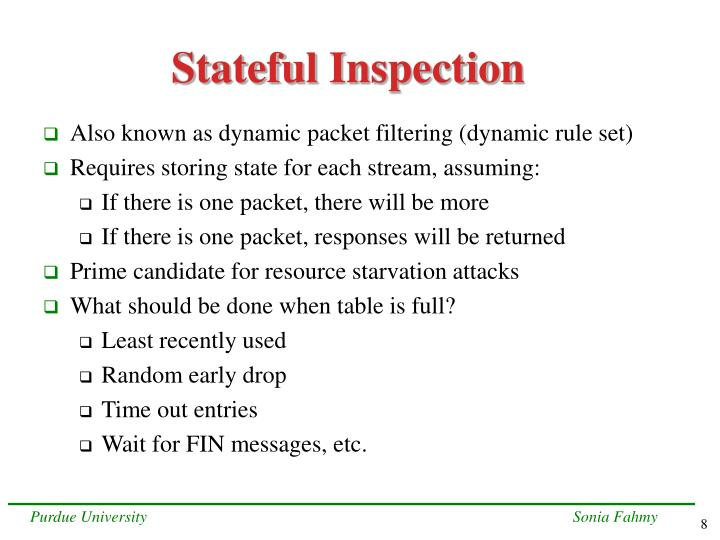 Stateful Inspection
