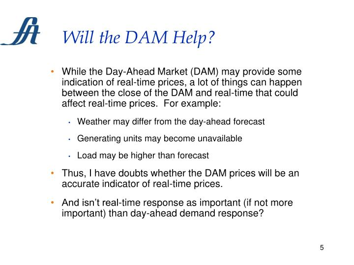 Will the DAM Help?