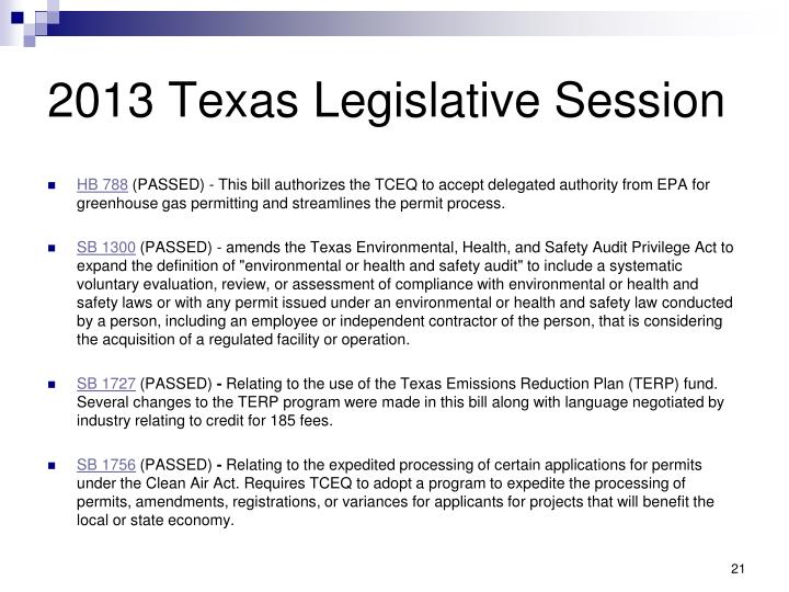 2013 Texas Legislative Session
