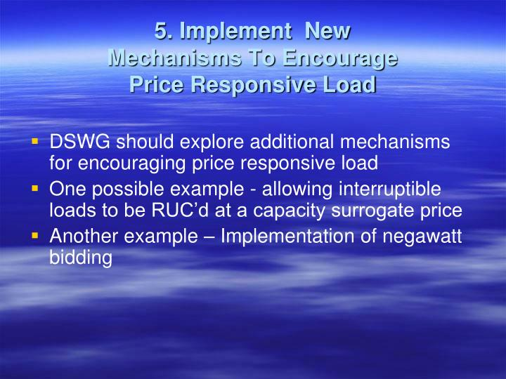 5. Implement  New