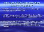 how is the ruc capacity short charge assigned