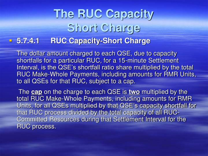 The RUC Capacity