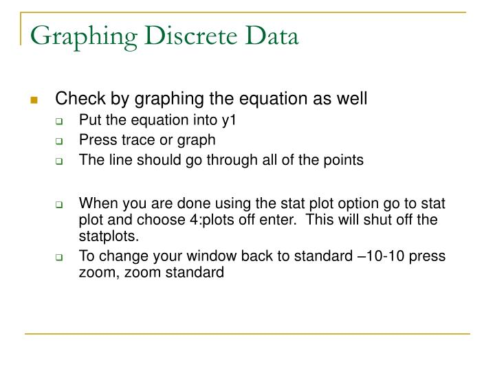 Graphing Discrete Data