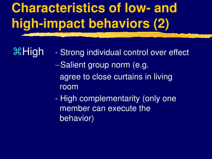 individual contribution and impact group presentation Groups influence individual decision-making processes in a variety of ways, such  as  that contribute to recognition of a group: interdependence, social interaction,   milgram and zimbardo concluded that the following factors affect obedience:   ingratiation can include flattery, opinion conformity, and self-presentation.