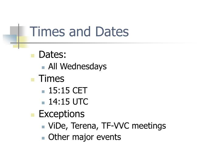 Times and Dates