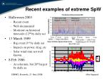recent examples of extreme spw