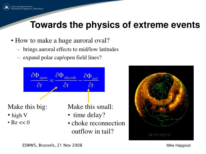 Towards the physics of extreme events