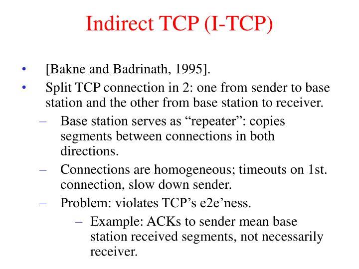 Indirect TCP (I-TCP)