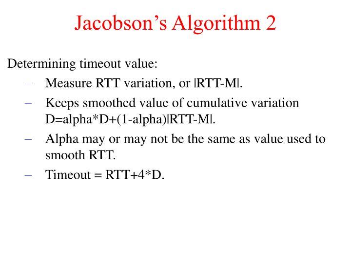 Jacobson's Algorithm 2