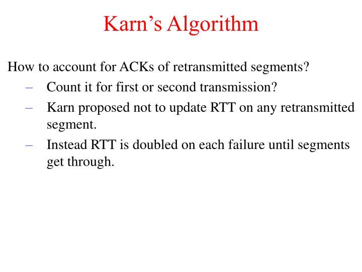 Karn's Algorithm