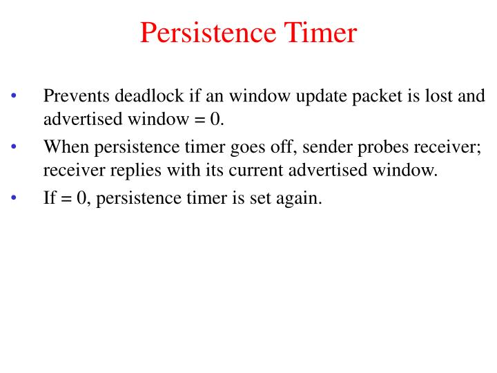 Persistence Timer