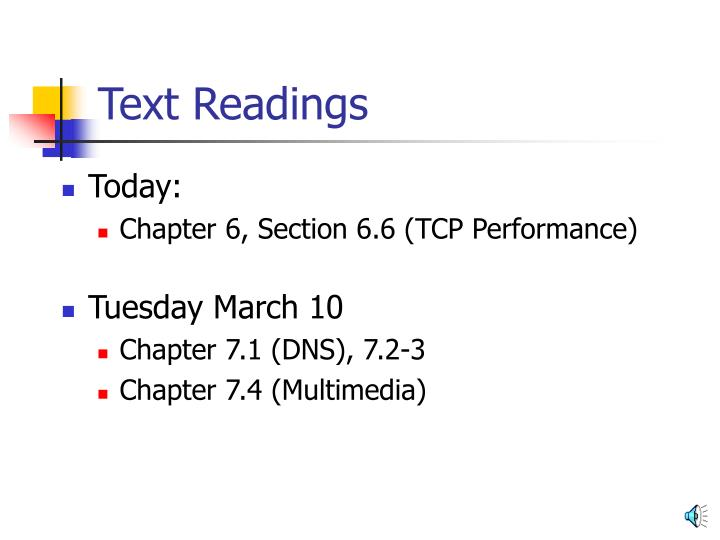 Text Readings