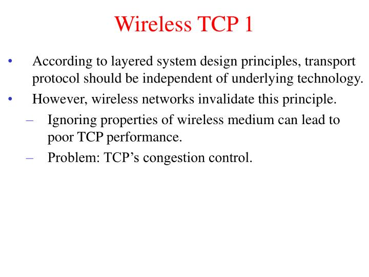 Wireless TCP 1