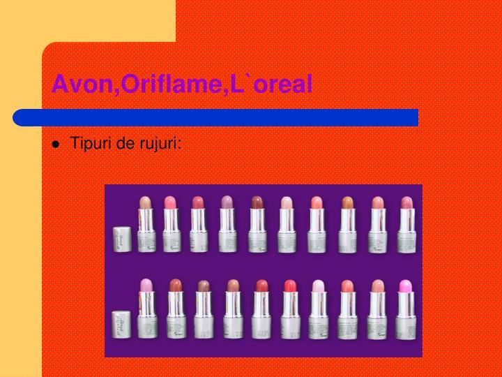 Avon,Oriflame,L`oreal