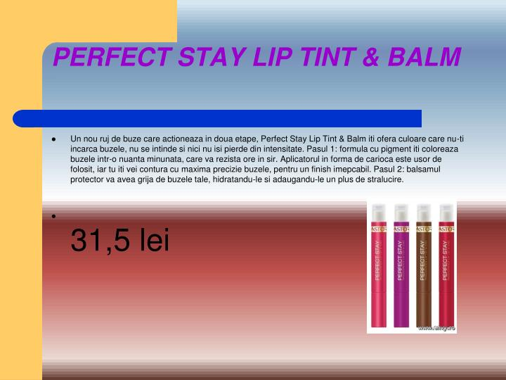 PERFECT STAY LIP TINT & BALM