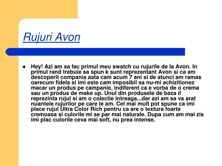 Rujuri Avon