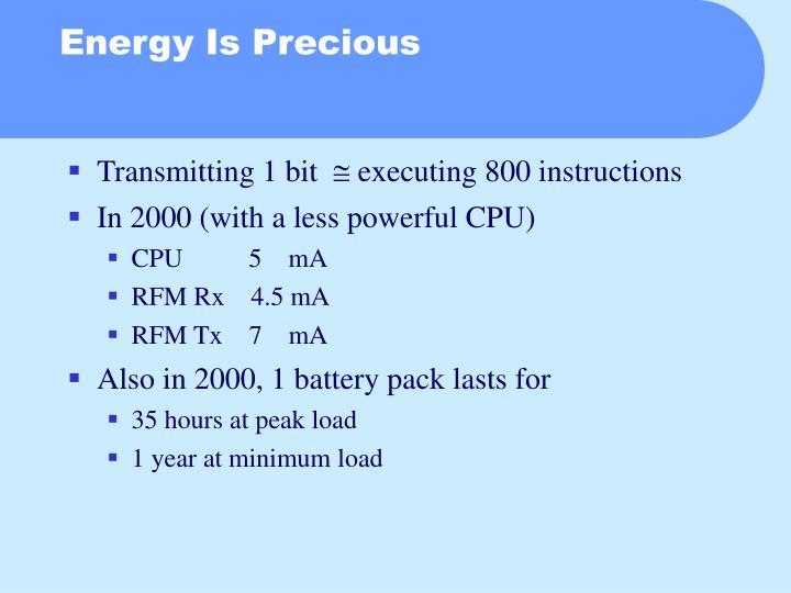 Energy Is Precious