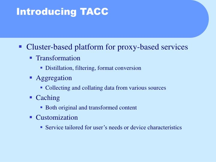 Cluster-based platform for proxy-based services