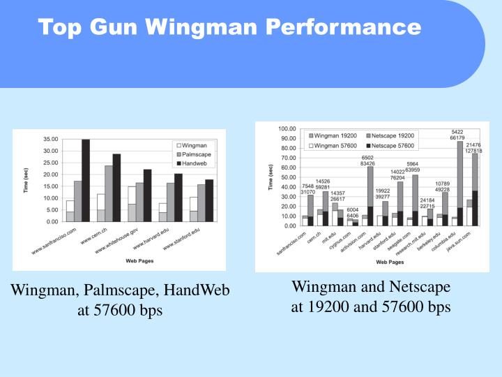 Top Gun Wingman Performance