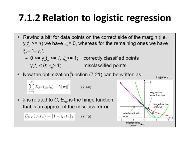 7.1.2 Relation to logistic regression